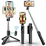 Palo Selfie para Selfie con Bluetooth, 3 en 1, Giratorio 360°, Mini Palo de Selfie...