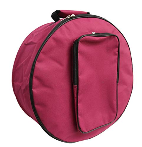 Tambourine Bag/Snare Drum Bag/Drum Bag with Shoulder Strap/Tambourine Storage Case/Percussion Instruments Accessories (red)