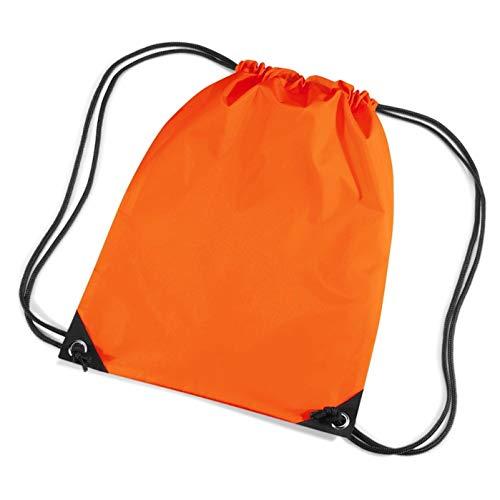 ShirtInStyle Sacchetto sport, Borsa da palestra, Gymsac, Sacchetto portascarpe con Cordoncino molto Colore - Arancione