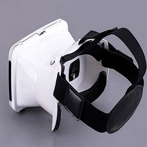 『KAWOE 3DVRゴーグル 3DVRメガネ 仮想現実体験 超3D映像効果 焦点/瞳孔距離調節可能 映画ゲーム用 ホワイト』の3枚目の画像