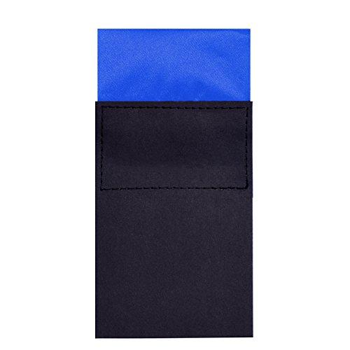DonDon Pañuelo de bolsillo para hombres plegado cuadrado con cartón tamaño ajustable