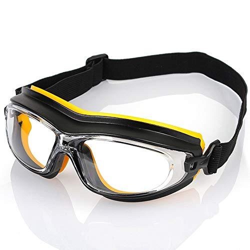 Yunbai Gafas de seguridad de Polvo de viento sandproof de golpes gafas de protección contra el ácido químico de pulverización de pintura Splash Gafas de Trabajo, anteojos de seguridad anti-vaho gafas