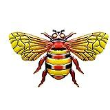 laoonl Ornamento realista de abeja de metal – Figuras coloridas de hierro forjado de...
