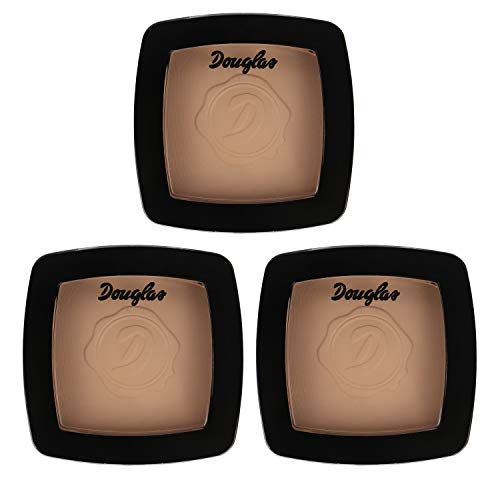 3x Douglas Make-up 999835 Teint Puder Mattifying Powder Deep Beige 10 g Set
