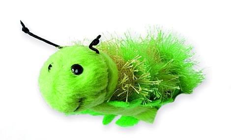 alles-meine.de GmbH Fingerpuppe - grüne Raupe / Wurm - Schmetterling / Tier Handspielpuppe - Kasperlfigur - Finger Puppe Handpuppe - für Kinder & Erwachsene - Plüschtier