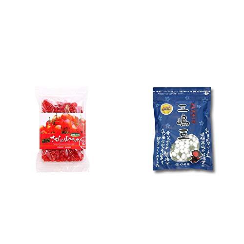 [2点セット] 収穫の朝 さくらんぼグラッセ ラム酒風味(180g)・飛騨 打保屋 駄菓子 三嶋豆(150g)