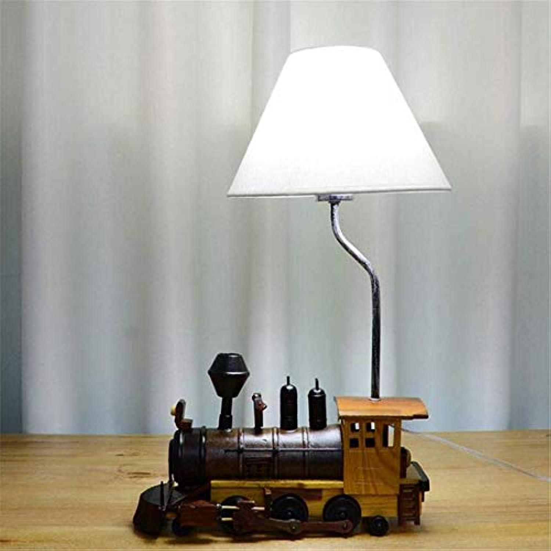 HBLJ Nachttischlampe Kreative Retro Zug Tischlampe Kinder Schlafzimmer Lampe Junge Zimmer Nachttischlampe Led Persnlichkeit Lampe
