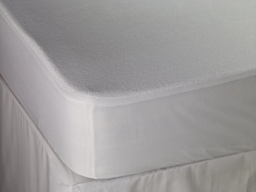 Terry Towelling Waterproof Mattress Protector Breathable Anti Allergy, Anti Dust Mite, Double Size by Bedding Online