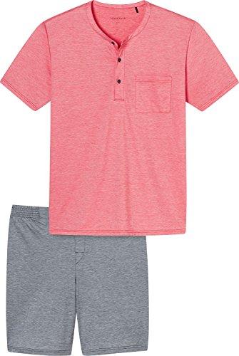 Schiesser Herren Schlafanzughose Anzug Kurz, Rot (Rot 500), Medium (Herstellergröße 050)