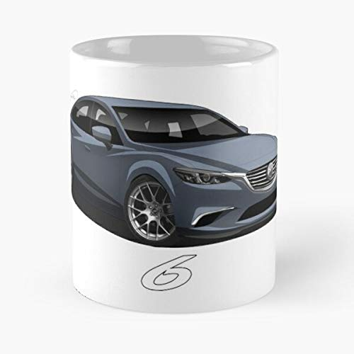 5TheWay Mazda View Lowered Mug Best 11 oz Kaffeebecher - Nespresso Tassen Kaffee Motive