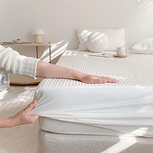 BOLO Colcha de algodón con retazos de patchwork, hecha de manta acolchada transpirable, bordes elásticos duraderos, 150 x 200 + 25 cm
