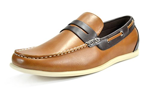 Bruno Marc Men's Kilin-02 Tan Brown Driving Loafers Moccasins Shoes - 8.5...