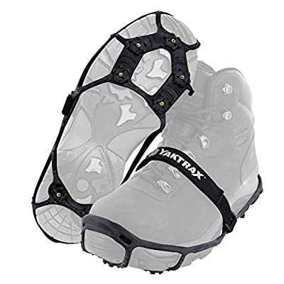Yaktrax Spikes for Walking on Ice and Snow (1 Pair), Large/X-Large