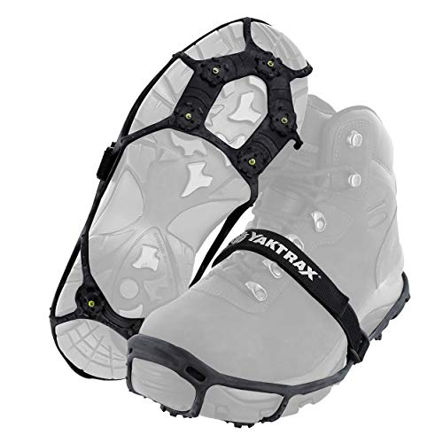 Yaktrax Spikes for Walking on Ice and Snow 1 Pair Large/XLarge  Black