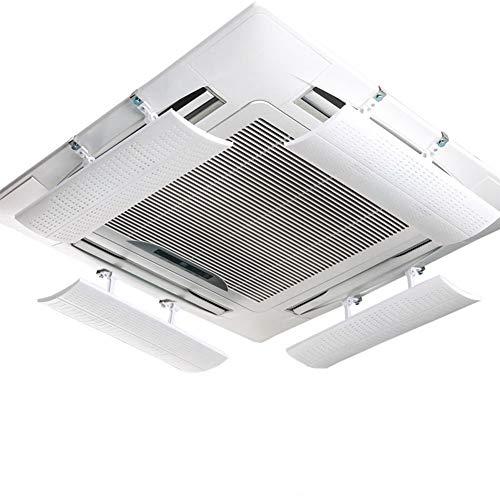 TIZJ Condizionatore d'Aria deflettore for Il soffitto Aria condizionata Centrale Angolo ABS Guida microporosa Vento impediscono all'Aria di Salto di Installazione Diritta Semplice (Quattro Pezzi)