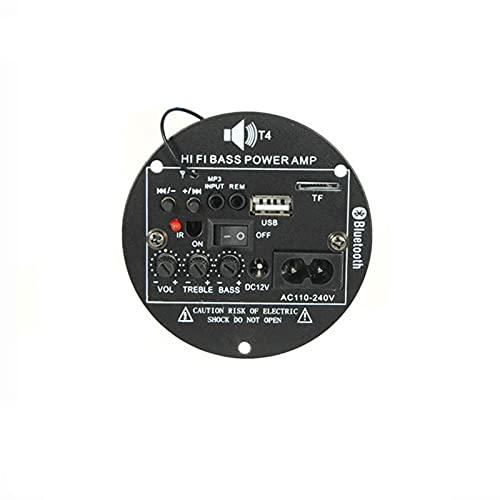 SANKUAI 1SET 30W Amplificador Bluetooth AUTHIFIOTE Audio 12V 220V Amplificador Amplifier AMP AMP Soporte TF USB FM para 5-10 Pulgadas Bass Speave DIY
