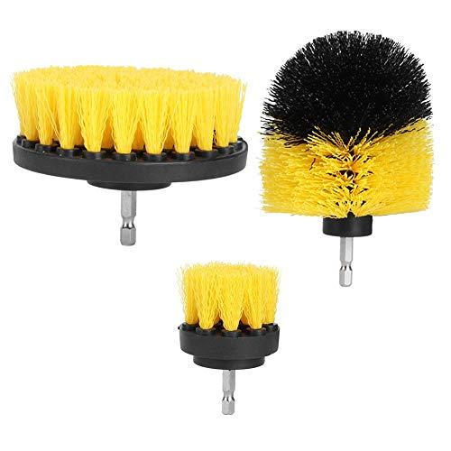 Cepillo de limpieza-3Pcs/Set 2in 3.5in 4in Cepillo de Nailon Taladro de Pelo Cepillo de Limpieza Limpiador para lechada Azulejos de baño