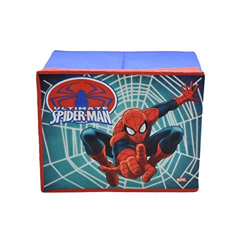 takestop Scatola Pieghevole Spiderman Marver 40x30x25cm Contenitore Coperchio Uomo Ragno POGGIAPIEDI Puff Design Camera CAMERETTA Decorazione per Giochi Giocattoli