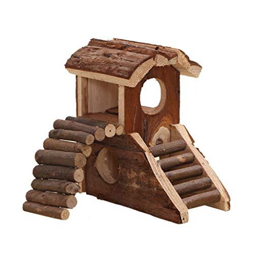 NA/ Marginf Pets - Casa de madera grande de 2 plantas, pequeña...