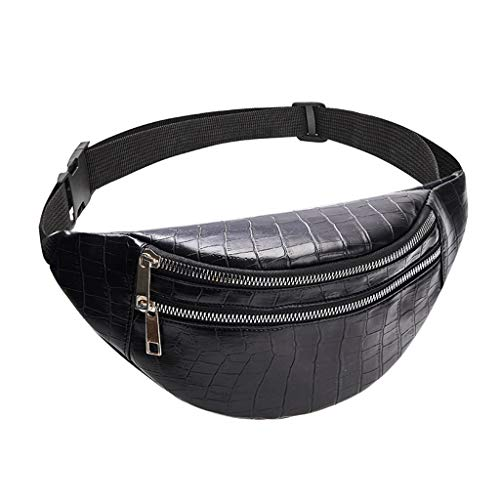 WT-DDJJK Black Friday Sales 2020, riñonera, cinturón para Portador de teléfono móvil, Bolso para Hombre, Funda de Cuero PU con Lazo, Cinturones, riñonera