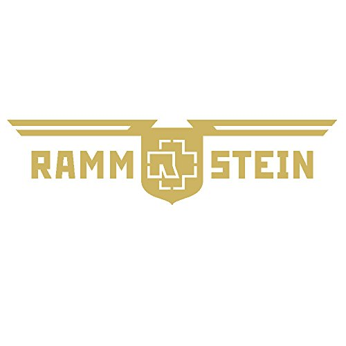 Rammstein Auto Aufkleber Sticker Gold D.R. (aussenklebend) 57cm, Offizielles Band Merchandise Heckscheibe