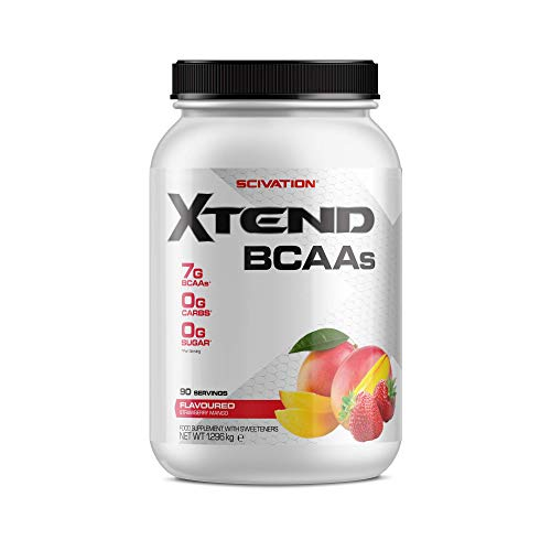 XTEND Original BCAA Powder Strawberry Mango | Branched Chain Amino Acids Supplement | 7g BCAAs + Electrolytes for Recovery & Hydration | 90 Servings