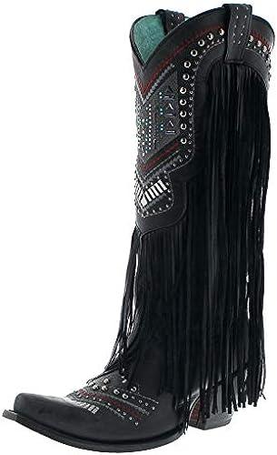Corral Stiefel Damen Cowboy Stiefel C2951 schwarz Lederstiefel Schwarz