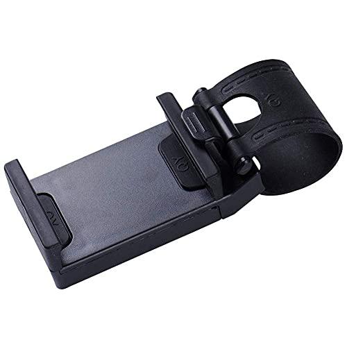 Nuevo Convinent Car Holder Mini Air Vent Steering Wheel Clip Mount Teléfono Celular Móvil Universal para iPhone Soporte de Soporte Soporte-Negro