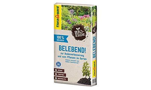 Floragard Vegane Bio-Erde (Belebend) zur Pflanzen und Bodenverbesserung 60 L