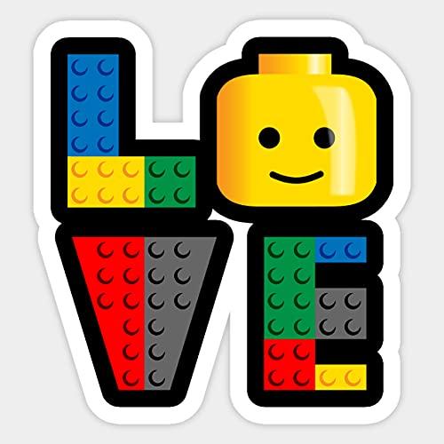 Love Lego Pegatina