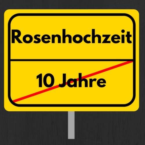 Rosenhochzeit: Gästebuch - Erinnerungsbuch zum Eintragen von Glückwünschen und Grüßen zum 10....