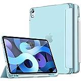Dadanism Funda Compatible con iPad Air 4 Generación iPad 10,9 Pulgadas 2020, Protector de de TPU Suave Ligero Colocación del Lápiz Función de Auto Estela/Sueño, Azul Claro