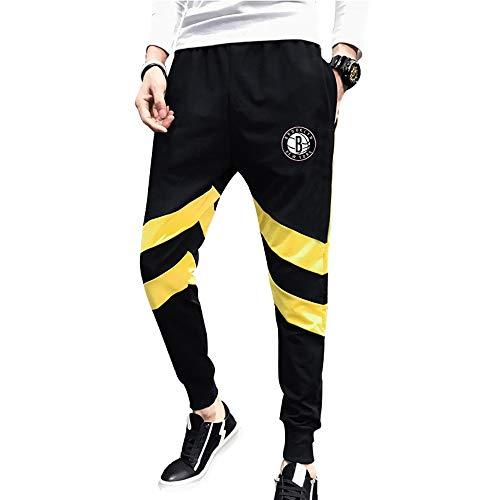 Aialts Brooklyn Nets basketbalbroek, voor mannen, jongens, basketbaltraining, nonchalante broek, sweatpants, comfortabel met tas