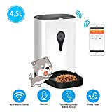 UUNITONA Automatic Pet Feeder Electric Food Dispenser- Programmable Timer/APP Phone Control/Voice Recorder for Dog and Cat Small Animals (with HD Camera)