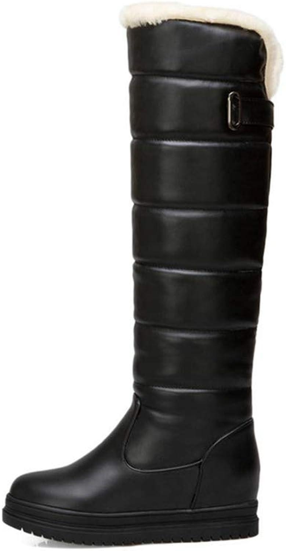 GEORPE Keep Warm Over The Knee High Boots Platform Wedges Heel Winter Boots