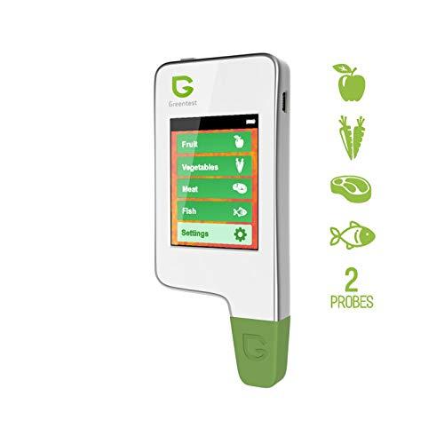 Greentest Instant-Lesegerät für frisches Fleisch, Obst, Gemüse, Nitrat-Tester und Messgerät für Lebensmittel (weiß)