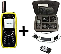SatPhoneStore Iridium 9575 Extreme Satellite Phone Traveler Package with Solar Charging Panel, Travel Case and Blank Prepaid SIM Card Ready for Easy Online Activation