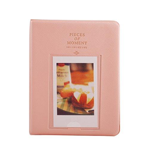 Mini Photo Album for Fujifilm Instax Minis Polaroids 2x3 Inch Pictures 64 Pockets Pink