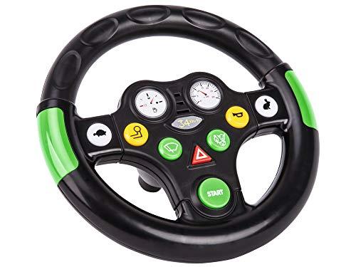 BIG Traktor Sound Wheel Lenkrad mit verschiedenen Traktor Sounds, für Bobby Cars ab dem Baujahr 2010, sowie für BIG Traktoren, Spielzeuglenkrad für Kinder ab 1 Jahr