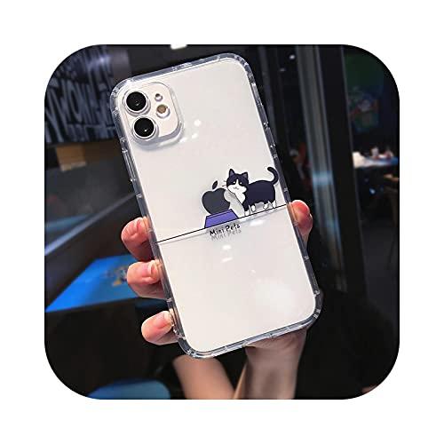 KASHINO Funda para iPhone 12 11Pro Max X XS XR 7 8 Plus SE 2020 suave transparente para iPhone 12