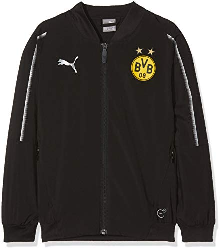 PUMA Kinder BVB Leisure Jacket Jr Without Sponsor Logo with 2 Side pocke Jacke, Black, 152