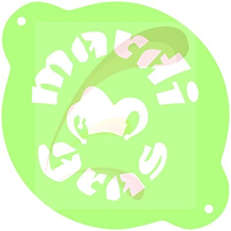 Mardi Gras Sign NOLO beads Cookie stencil Cake Stencil Coffee Stencil Candy Stencil Cupcake product image