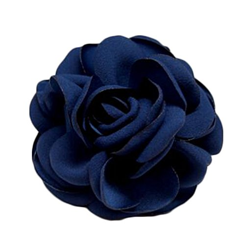 Elegant Flowers Brooch Sweater Cardigan Chest Flower Pin pour les dames, Marine