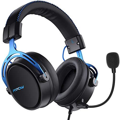Mpow Air SE Auriculares para Juegos, Auriculares para Juegos con Sonido Envolvente con micrófono con cancelación de Ruido, Auriculares multiplataforma para PS5/PS4/PC/Xbox One/Switch/Mac