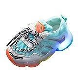 YWLINK Zapatos Led Luces NiñOs Y NiñAs Tela Malla Zapatos Casual Deportes Zapatillas Ligeros Fondo Blando Antideslizante Transpirable CóModo Corriendo Ciclismo Zapatos De Viaje Regalo De CumpleañOs