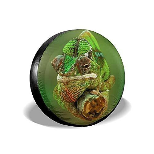 Yaxinduobao Cubierta de llanta Funny Chameleon Protector de Cubierta de llanta de Repuesto para Llantas de automóvil de 14 Pulgadas de diámetro