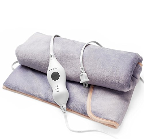 Meva Heating Pad Foot Warmer - Electric Heat Therapy Wrap for Feet, Back, Stomach and Abdomen - Long Cord with...