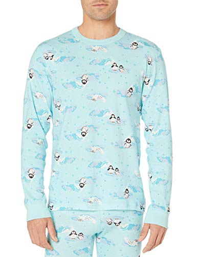 Moon and Back by Hanna Andersson Organic Holiday Family Matching Long John Pajama Set Pigiama, Stampa Pinguino-Top, XS