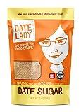 Organic Date Sugar, 12 oz   100% Whole Food Sweetener   Vegan, Paleo, Gluten-free & Kosher   100% Ground Dates   Contains Fiber from the Date (1 Bag)