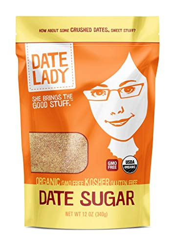 Organic Date Sugar, 1 lb | 100% Whole Food | Vegan, Paleo, Gluten-free & Kosher | 100% Ground Dates | Sugar Substitute and Alternative Sweetener for Baking | Contains Fiber from the Date (1 Bag)